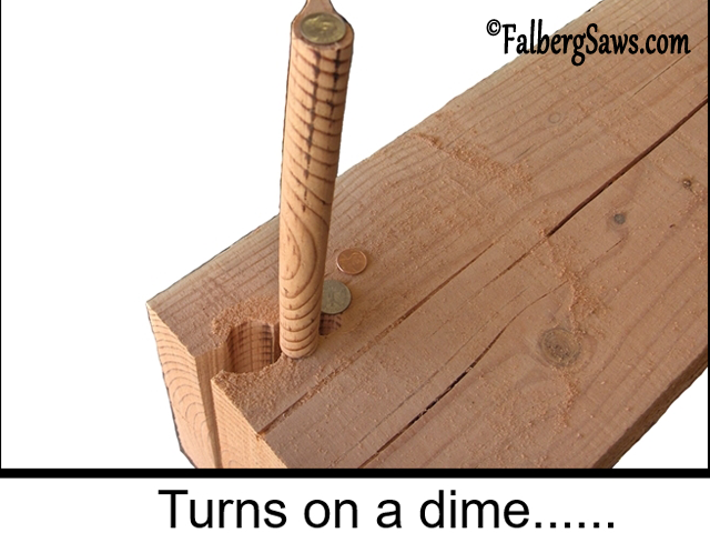 Half-inch radius plug - Intricate cuts on big timber with Falberg Saws