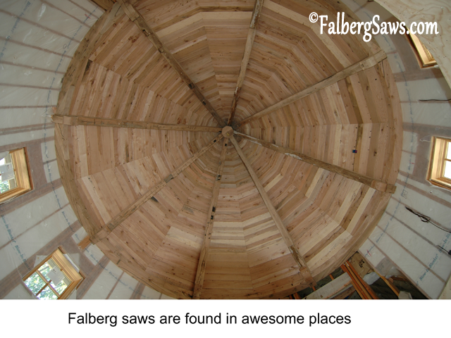 High Cathedral - Intricate cuts on big timber with Falberg Saws
