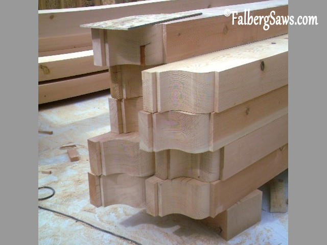 Rafter Tails - Intricate cuts on big timber with Falberg Saws