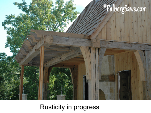 Rusticity - Intricate cuts on big timber with Falberg Saws