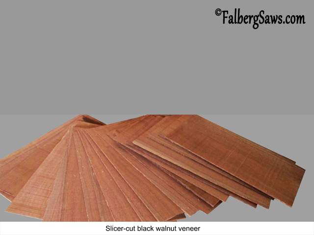 black walnut veneer Slicer - cut from big timber with Falberg Saws