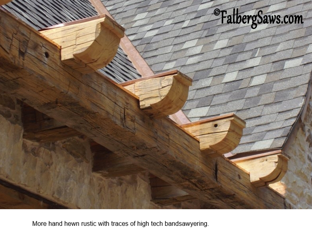 Hewn Rustic - Intricate cuts on big timber with Falberg Saws